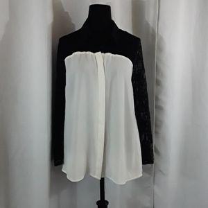 Express White/Black Blouse
